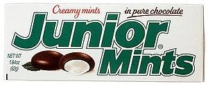 A box of Junior Mints