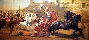 English: Triumphant Achilles: Achilles draggin...