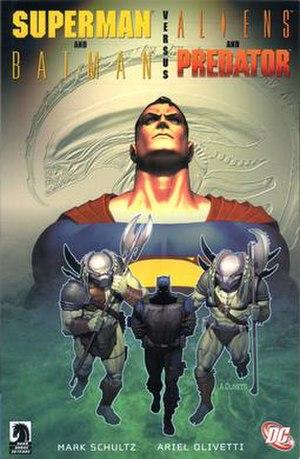 Cover of Superman & Batman vs. Aliens & Predator.