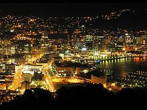 Wellington City Night downtown