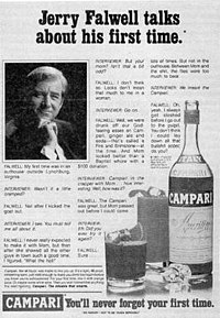 The parody ad at issue in the case