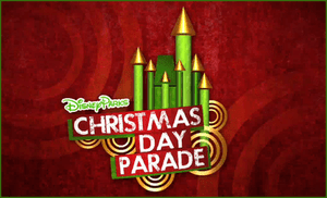 The official logo for the Disney Parks Christm...