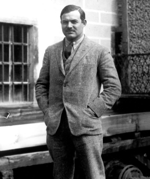 Ernest Hemingway in Paris in 1924