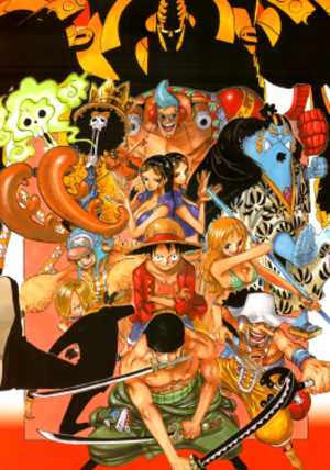 The protagonists of the One Piece series. Cloc...