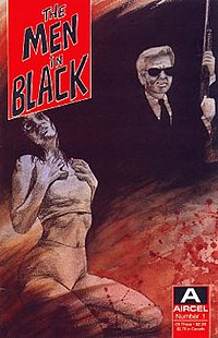 The Men in Black - first issue. Cover art by Max S Fellwalker.