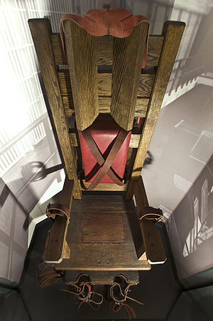 An Electric Chair at the National Museum of Cr...