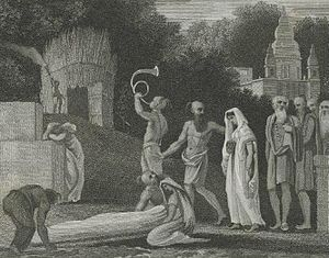 Engraving showing a recently widowed Hindu wom...