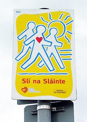 Slí na Sláinte signpost in Galway