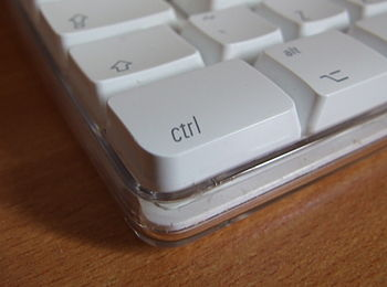 Control key on an Apple wireless keyboard