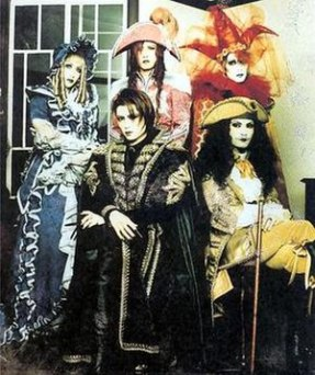 Malice Mizer during the Gackt era (from left t...