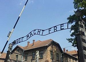Arbeit macht frei sign, Auschwitz I