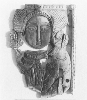Ivory (circa 8th century) discovered in the Ab...