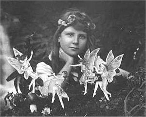 English: Frances Griffiths with Fairies.