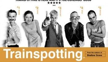 Film poster for Trainspotting (film) - Copyrig...