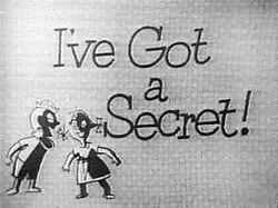 Image result for I have a secret