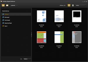 A screenshot of Adobe Digital Editions in libr...