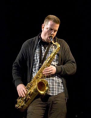 """Ken Vandermark, at """"Sonore"""" concert,..."""