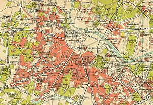 Map of Lucknow in 1909