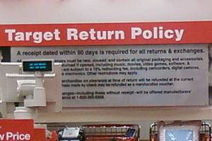 A store's return policy