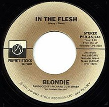 In the Flesh Blondie song  Wikipedia
