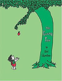 Cover depicting the tree giving away an apple