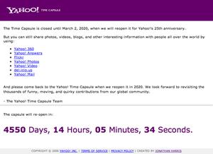 Yahoo! Time Capsule