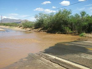 Flash flood near tucson az