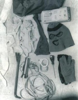 Items taken from Bundy's Volkswagen, August 16...
