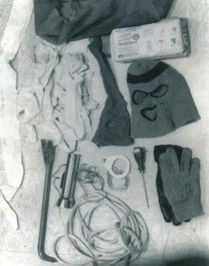 Items taken from Bundy's Volkswagen, August 16...