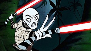 Ventress as she appeared in Star Wars: Clone Wars.
