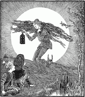 Victorian-era Engraving of the Man in the Moon