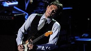 """John Mayer playing guitar on """"Human Natur..."""