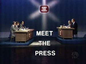 Meet the Press set, November 1975.
