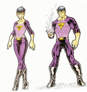 The new, revamped Wonder Twins. Art by Todd Nauck.