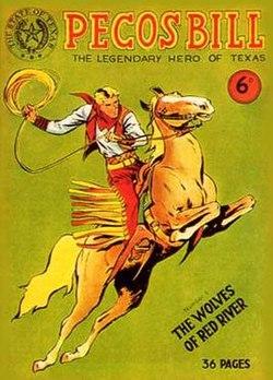 Copertina del sesto numero di Pecos Bill nell'edizione statunitense