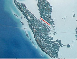 Strait of Malacca, (narrows).