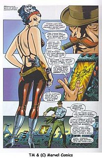 Steranko's Bond girl-like Contessa Valentina Allegra di Fontaine, from same issue as above left.