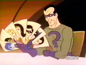 The Riddler as he appears in Challenge of the ...