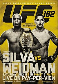 Anderson Silva loses to Chris Weidman.