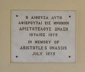 Ionain Village, Aristotle Onassis commemorativ...