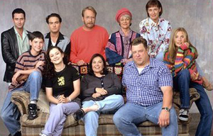 The cast of Roseanne. (from top left to top ri...
