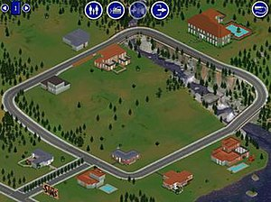 A neighborhood in The Sims consists of a singl...