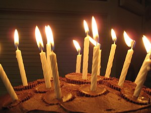 These common thin, stick-shaped candles are st...
