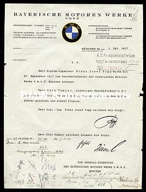 Appointment Certificate of Josef Popp in 1917 ...