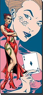 Roulette as she appears in DC Comics (image from Wikipedia)