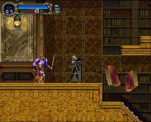 Gameplay in Symphony of the Night, with Alucar...
