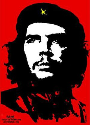 Famous poster that Jim Fitzpatrick made of Che...