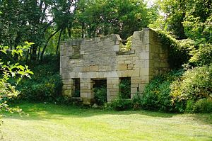 Stone ruins on the property of the Stone Barn,...
