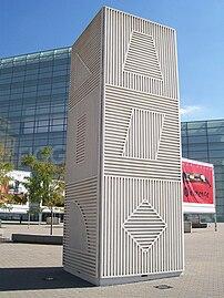 Sol LeWitt, Tower, Figge Art Museum, Davenport...