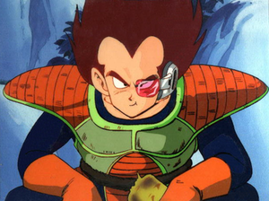 Vegeta's first appearance in the anime depicte...
